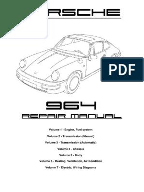 Porsche 964 Workshop Manual Automotive Industry Private Transport