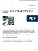 Popular Mechanics - Smoothing Out a Lumpy Idle