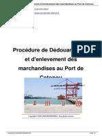 Proc-dure-De-D-douanement-et d'Enlevement de Mrch Port de Cotonou