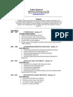Jobswire.com Resume of felicia_rchrd