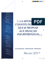 Projet constitutionnel_Marine Le Pen
