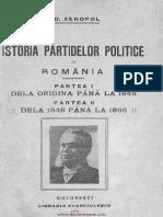 Xenopol, Alexandru D. - Istoria Partidelor Politice in Romania