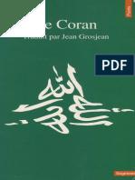 Le Coran Traduit Par Jean Grosjean