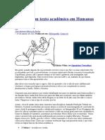 Como Ler Um Texto Acadêmico Em Humanas