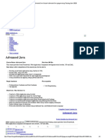 Advanced Java Course