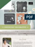 2010-2011 Definitely Decorative Catalog