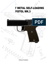 331653248 MK 3 DIY Sheet Metal Self Loading Pistol Professor Parabellum