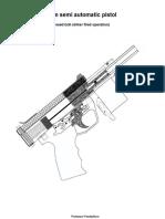Practical Scrap Metal Small Arms Vol.13 9mm Semi Automatic Closed-bolt Pistol