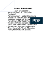 Contoh Format PROPOSAL