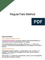 Regula Falsi Method