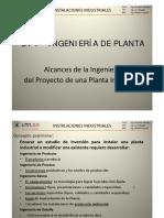 1_1 Ingeniería de Planta - Alcances de La Ingeniería de Un Proyecto