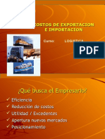 Costos de Exportacion e Imprtacion Logistica Global