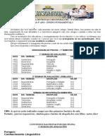 CRONOGRAMA DE PROVAS  - 1 ao 5° ano 1 Bimestre.docx