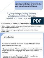 Safety-related Current State of Knowledge of Road Tunnel Users in Greece