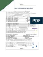 54487 Comparative and Superlative Worksheet
