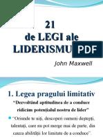 -21 de Legi Ale Liderismului (48 s.)