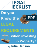 The Legal Checklist for Landlords V4