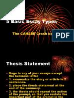 5 Basic Essay Types