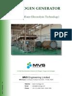 MVS Hydrogen Generator Product Catalogue