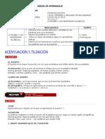 SESIÓN { LA TILDE  Y EL ACENTO.docx