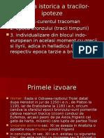Aparitia Istorica a Tracilor-ipoteze