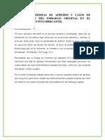 Las Medidas de Apremio y Casos de Modificación Del Embargo Original en El Proceso Ejecutivo Mercantil