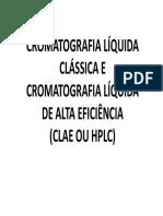 Aula - Cromatografia Liquida