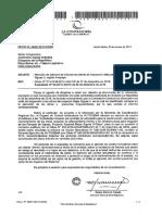 Atención de solicitud de informe resultante de inspección efectuada al proyecto Majes Siguas 11, región Arequipa