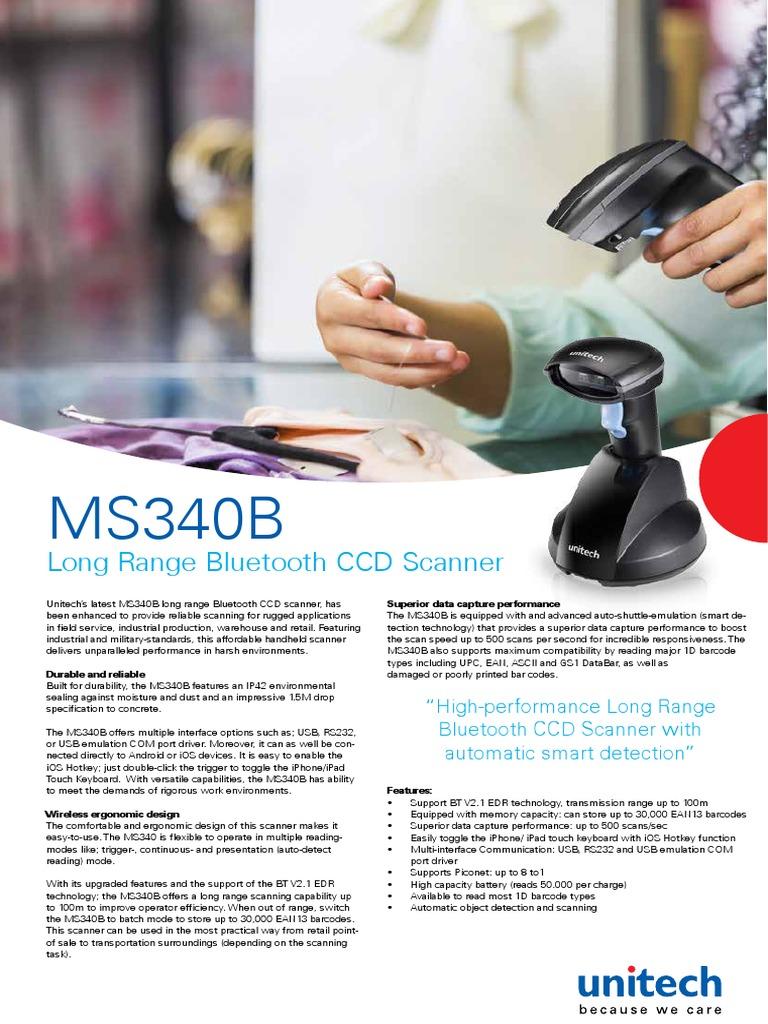 MS340B Brochure En   Image Scanner   Barcode