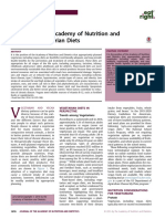 Position of the Academy of Nutrition and Dietetics, Vegetarian Diets