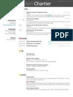 CV Resume Chartier Julien
