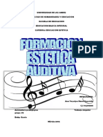 Formación Estética Auditiva.