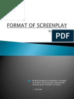 Format of Screenplay