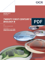OCR GCSE Gateway Biology B Specification (2018) (J257)