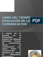 LINEA DE TIEMPO EVOLUCION DE LA COMUNICACION