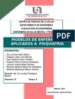 Modelos de Enfermeria en Psiquiatria Final