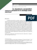 Cortés Modernizacion, Dependencia y Marginalidad