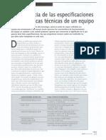Articulo Especificaciones Tecnicas