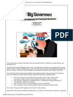 Big Government - An Unnecessary Evil That Should Be Abolished