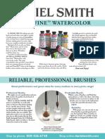 Daniel Smith Watercolor Guide