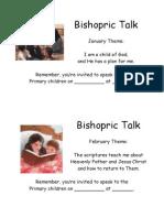 Bishopric Reminders