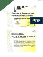 14 Fraudes, Infracciones en Telecomunicaciones