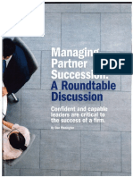 Managing Partner Succession - a Roundtable Discussion