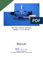 11.100 - Van Dorn Water Sampler - Manual