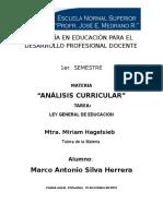 Ley General de Educacion Organizador