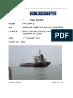 Final Report -Propeller Inspection MV. SINAR 1