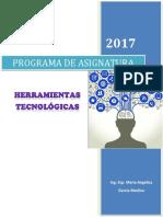 Herramientas Tecnologicas - Programa de Asignatura_2017-I