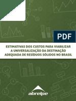 Abrelpe Estimativa de Custos Gestão de Resíduos_2015
