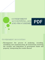 Government Accounting Auditing & Procurement