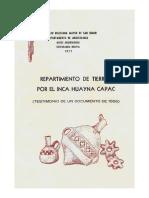 De Morales y Caballero 1977 Repartimiento Wayna Capac 1556